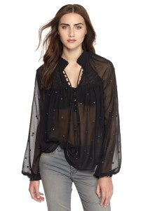 Belk Holiday Style Free People, Dot Georgette Top, $128