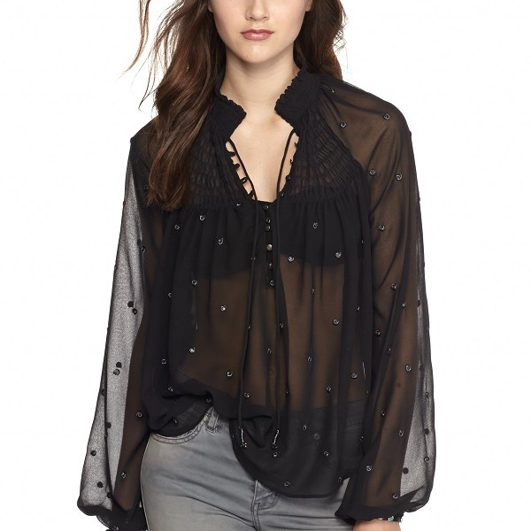 Belk Free People, Dot Georgette Top, $128