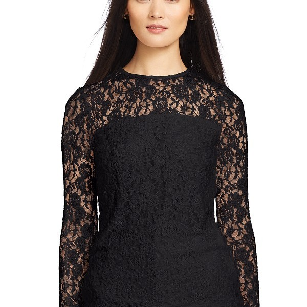 Belk Lauren Ralph Lauren, Lace Long-Sleeved Tee, $89.50