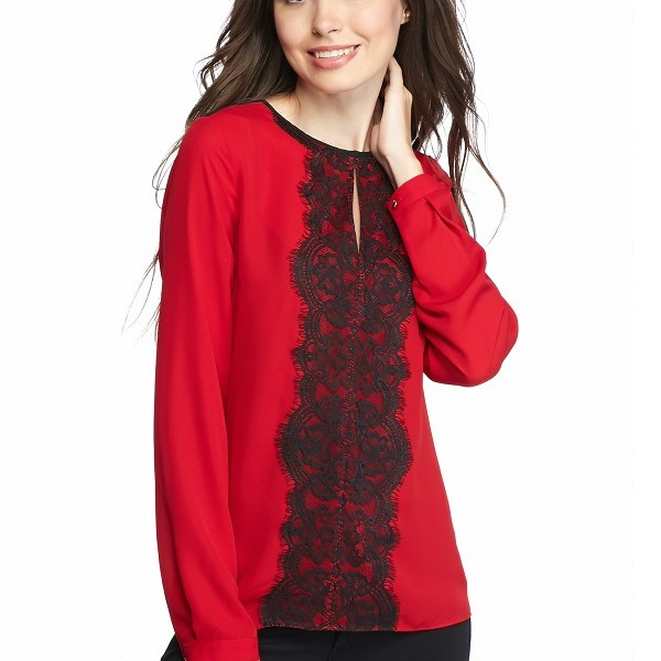 Belk Vince Camuto, Long Sleeve Front Lace Blouse, $99