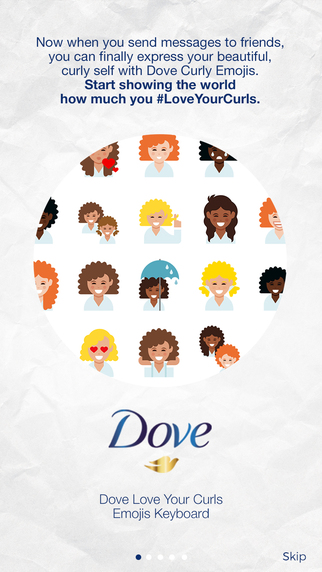 Dove Love Your Curls Emojis
