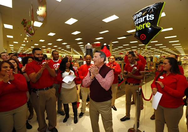 Target CEO Brian Cornell at Jersey City Target