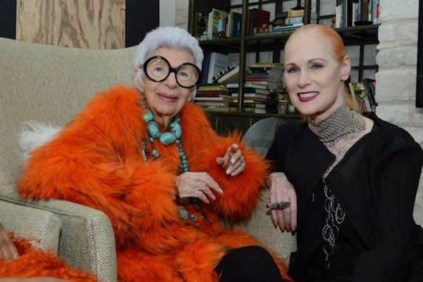 Iris Apfel and Jan Strimple