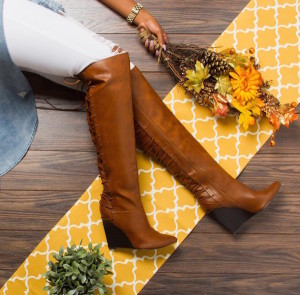 Shoedazzle Sophy Wedged Boots