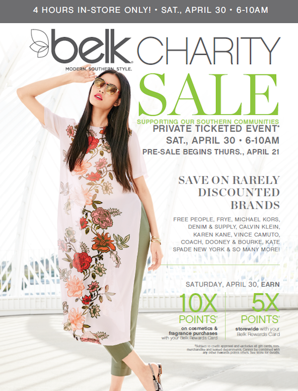 Belk Charity Day Sale