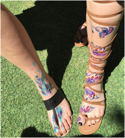 Flower Power: Coachella 2016 Ushers in Floral Body Painting Trend