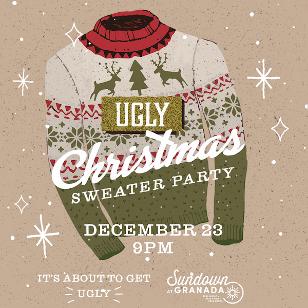Sundown Granada Ugly Sweater Christmas Party