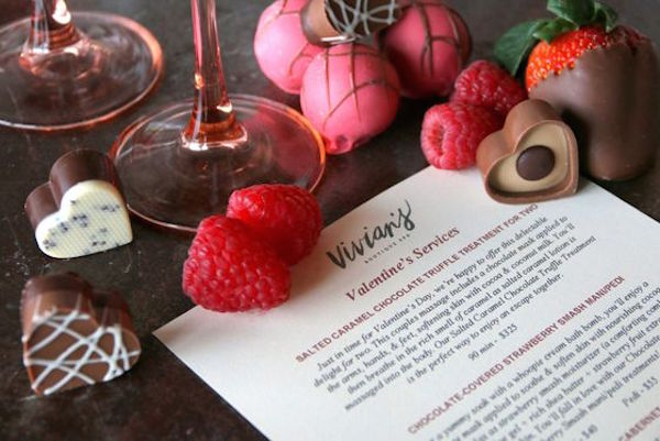 Wine Down, Get Chocolate Wasted at Vivian's Boutique Spa this Valentine's Day