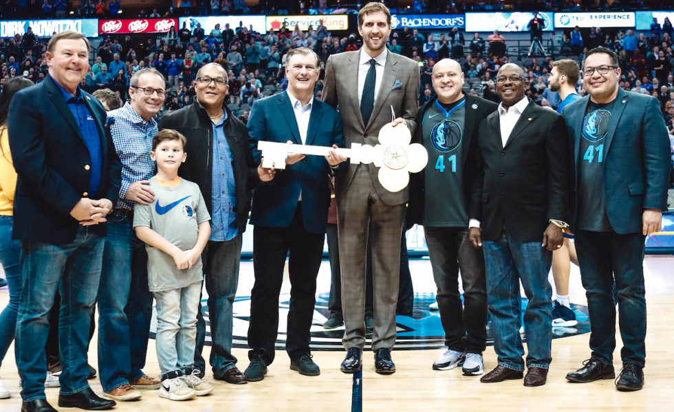 Dirk Nowitzki Honored with Key to City of Dallas