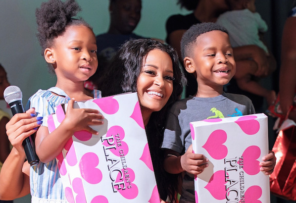 Keeping Families Connected and Actress Claudia Jordan Celebrate Christmas in July for Families In Need